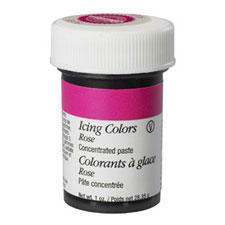 rose coloured wilton gel