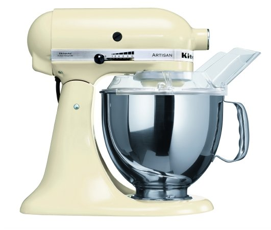 almond cream coloured kitchenaid stand mixer