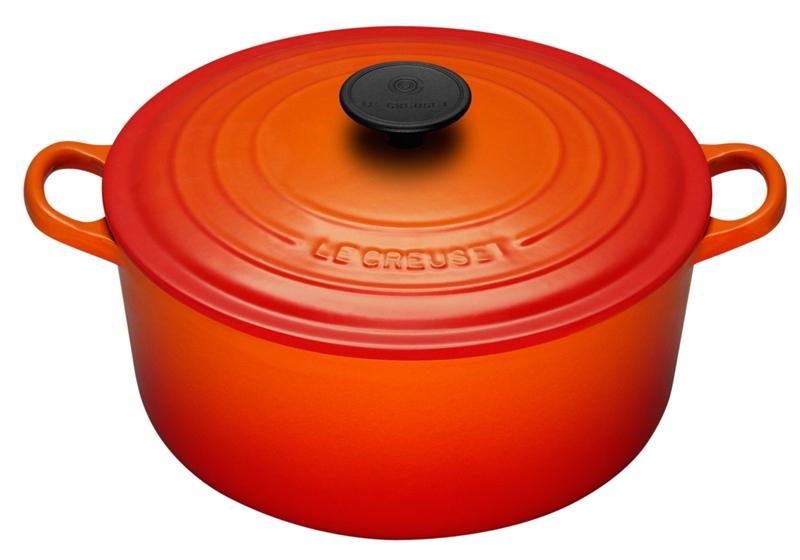 le creuset 24cm round cast iron casserole chef 39 s complements. Black Bedroom Furniture Sets. Home Design Ideas