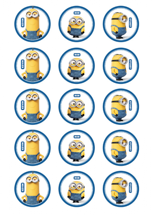 minion cupcake images pck15