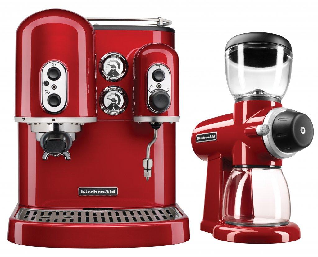 Kitchenaid Kes2102 Espresso Machine Candy Apple Red With Burr Grinder Kitchenaid Burr Grinder Kitchenaid Coffee