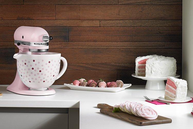 Kitchenaid Pink Polka Dot Ceramic Bowl Chef S Complements