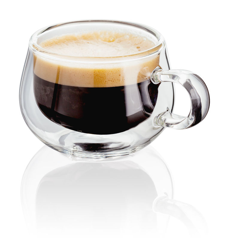 judge double walled glass espresso mugs