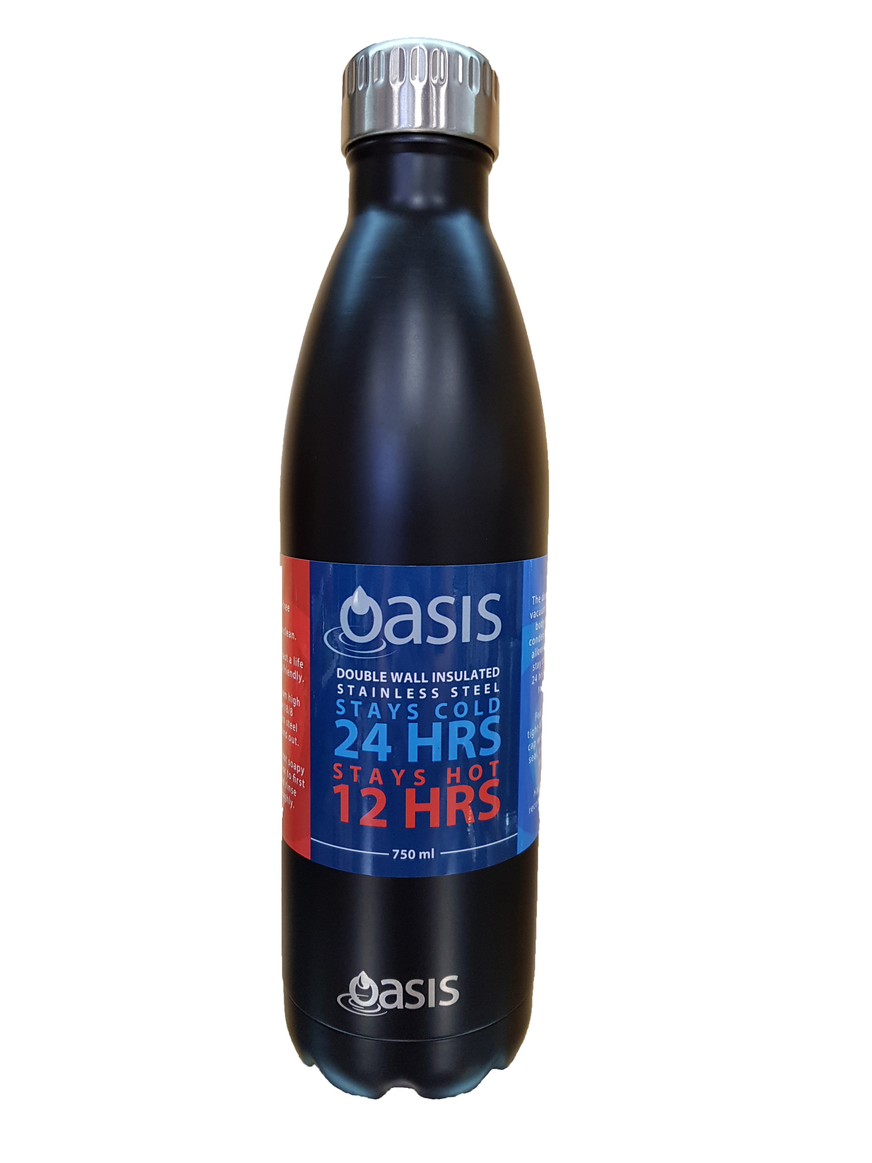 Oasis Insulated Stainless Steel Drink Bottle Matte Black