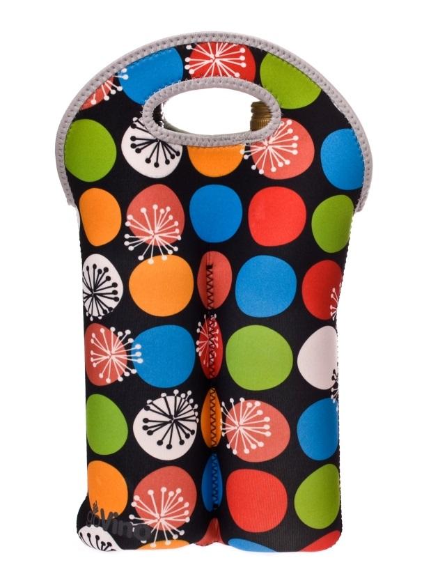 go vino double bottle bag polka dot