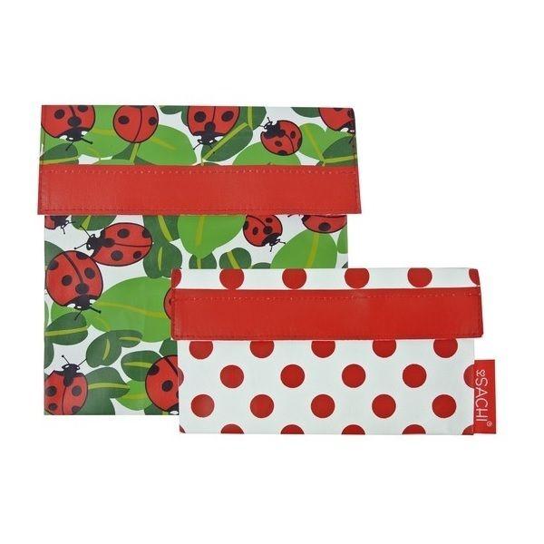 sachi ladybug lunch pocket set of 2