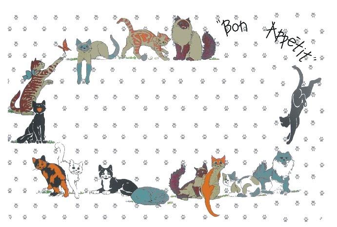 Placemat - PP Bon Apetit Cats