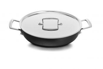 Le Creuset professional hard anodised shallow casserole