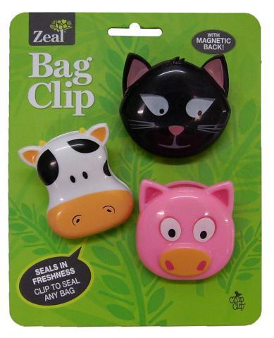 zeal bag clip set
