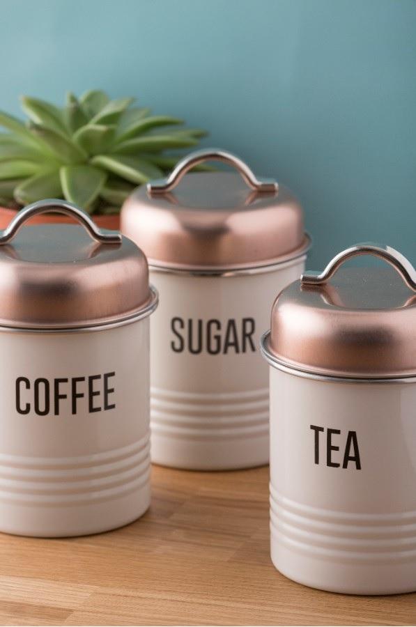 Typhoon Tea Coffee Amp Sugar Canisters Vintage Copper