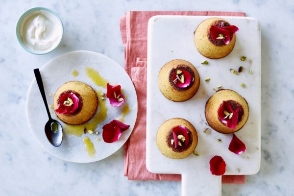 Orange, Almond and Pistachio Syrup Cakes
