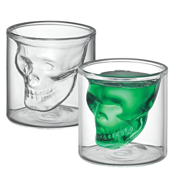 Shot Glass Twin Wall Set of 2 Skull sh/15550