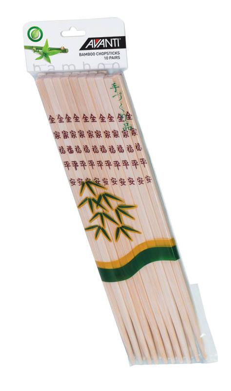 Avanti Bamboo Chopsticks 10 Pairs sh/16698