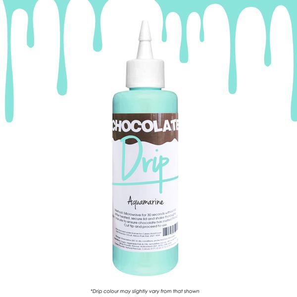 chocolate drip aqua marine