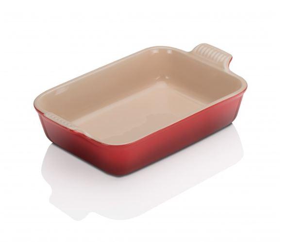 stoneware Rectangle Dish Cerise 26