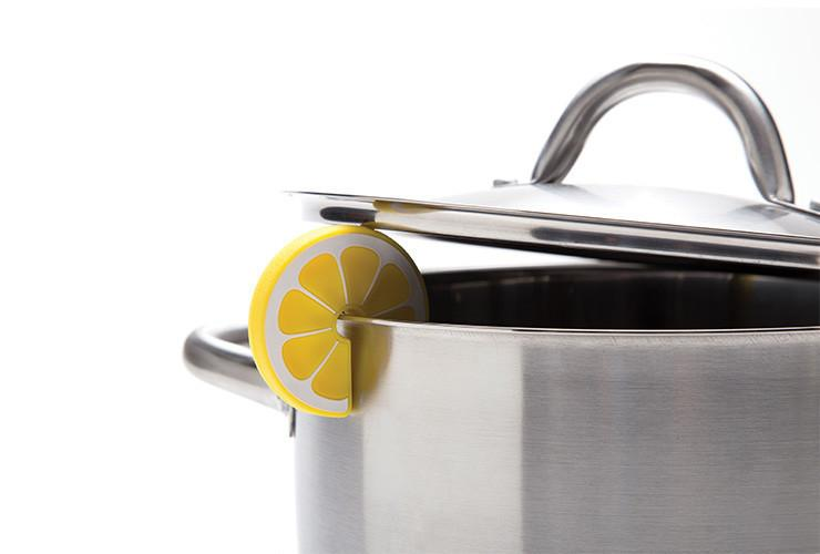 Lemon Slice Steam Releaser on pot