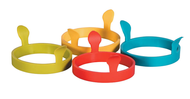 Avanti Silicone Egg Ring with Handles Assorted Colours sh/12088