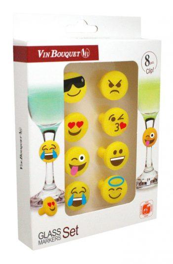 emoji glass markers set