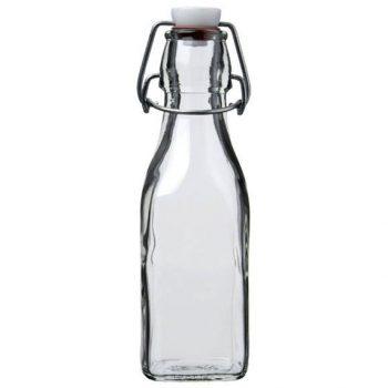 Glass Swing Bottle 250ml C/209457 square
