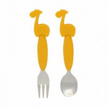 Spoon and Fork Set Giraffe