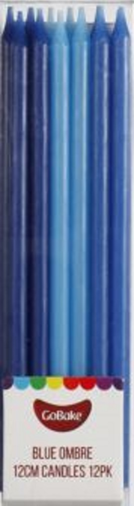 GoBake 12cm blue ombre candles