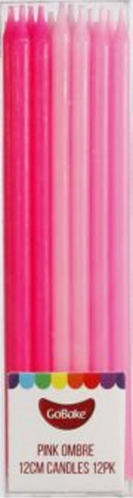 GoBake 12cm pink ombre candles