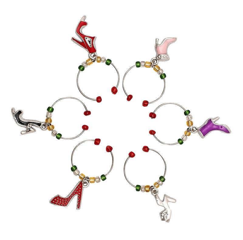 Avanti Shoes Wine Charms Set of 6