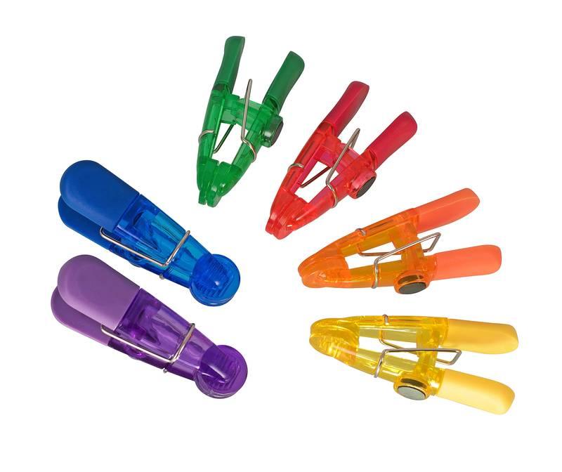 Magnetic Bag Clips Set of 6 Multi-Coloured sh/41511