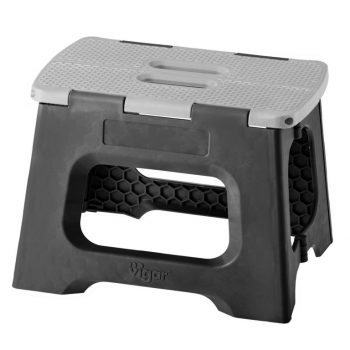 75067 - Foldable Stool - Solid Colour SRT6 - 23cm Black & Grey - LR