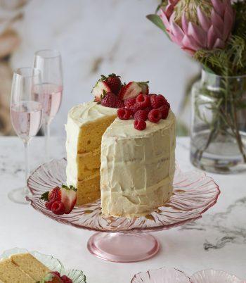 elsie footed cake plate