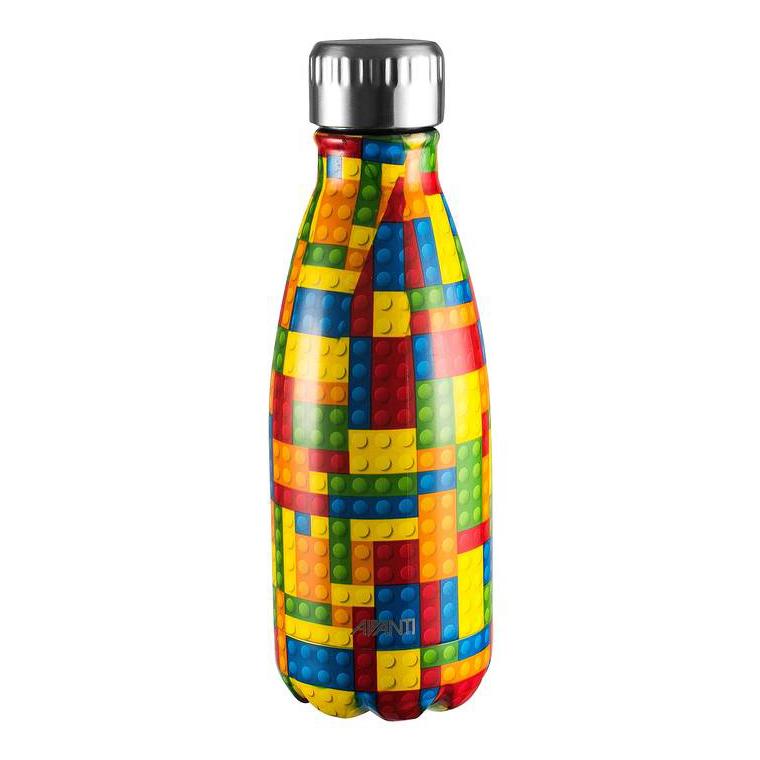 Avanti Insulated S/S Drink Bottle 350ml Blocks