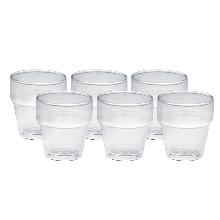 Avanti Stackable Double Wall Glass 250ml Set of 6