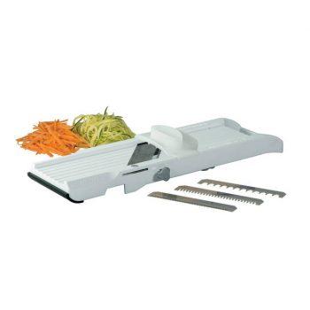 79920 Benriner Vegetable Slicer 64mm, (Thickness 0.3mm) with 5mm Interchange Blades - White