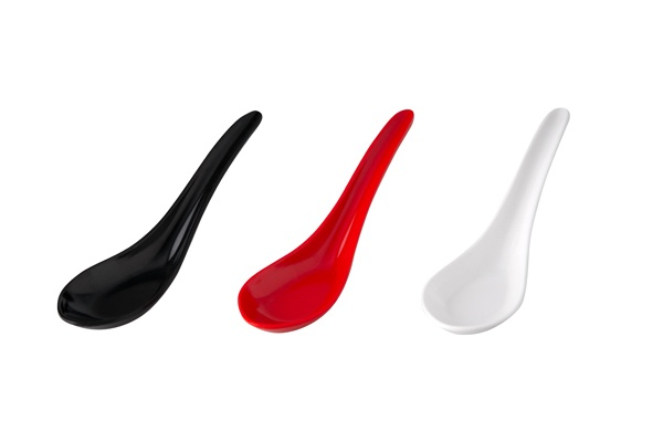 91208-ryner-melamine-chinese-spoon-150mm-black-red-white