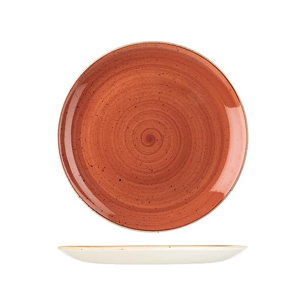 stonecast spiced orange coupe plate