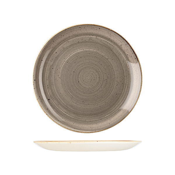 stonecaste peppercorn grey coupe plate made in england