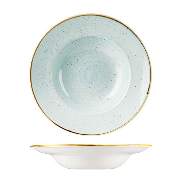 pale blue pasta bowl