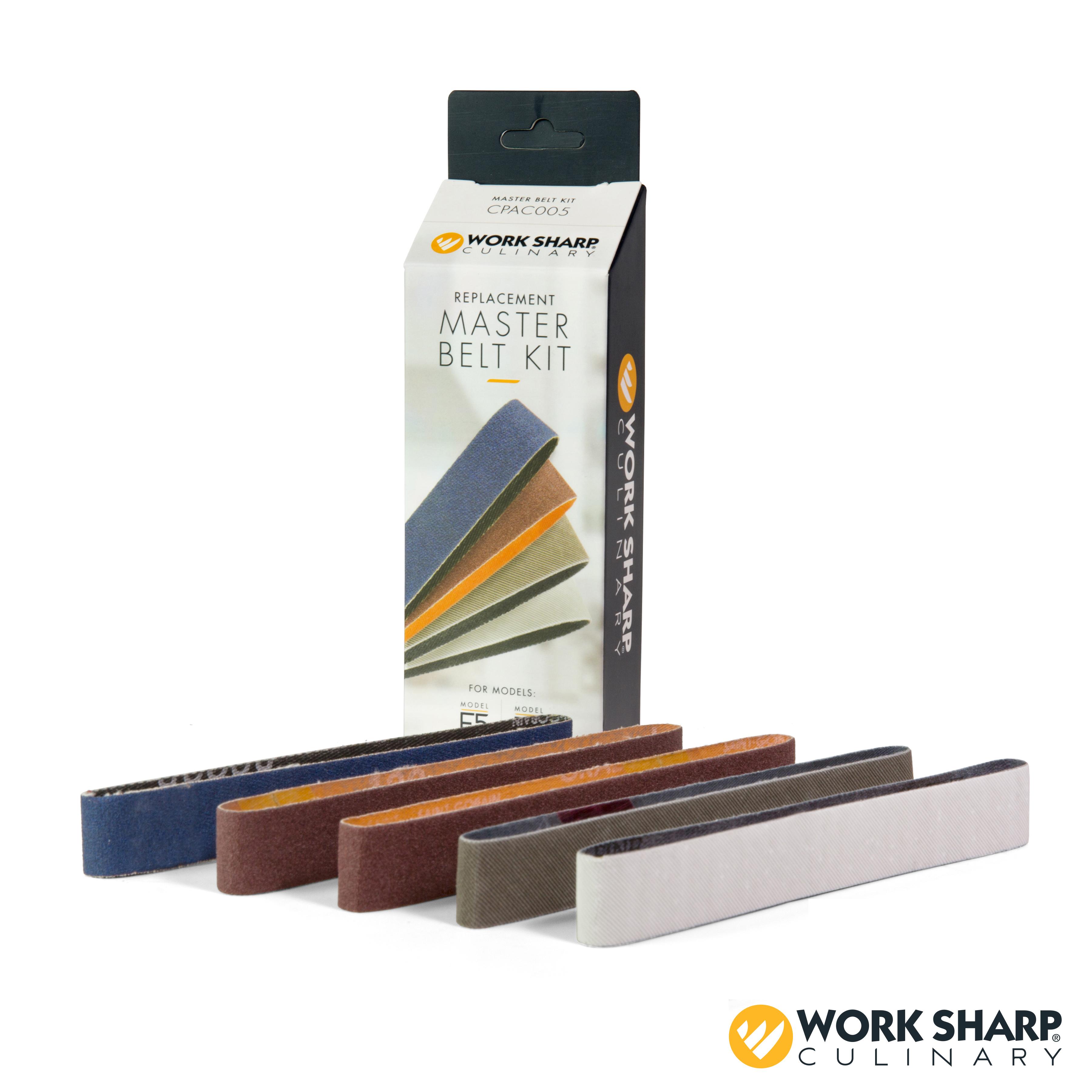 Work Sharp Culinary E5 Electric Kitchen Knife Sharpener Master Belt Kit