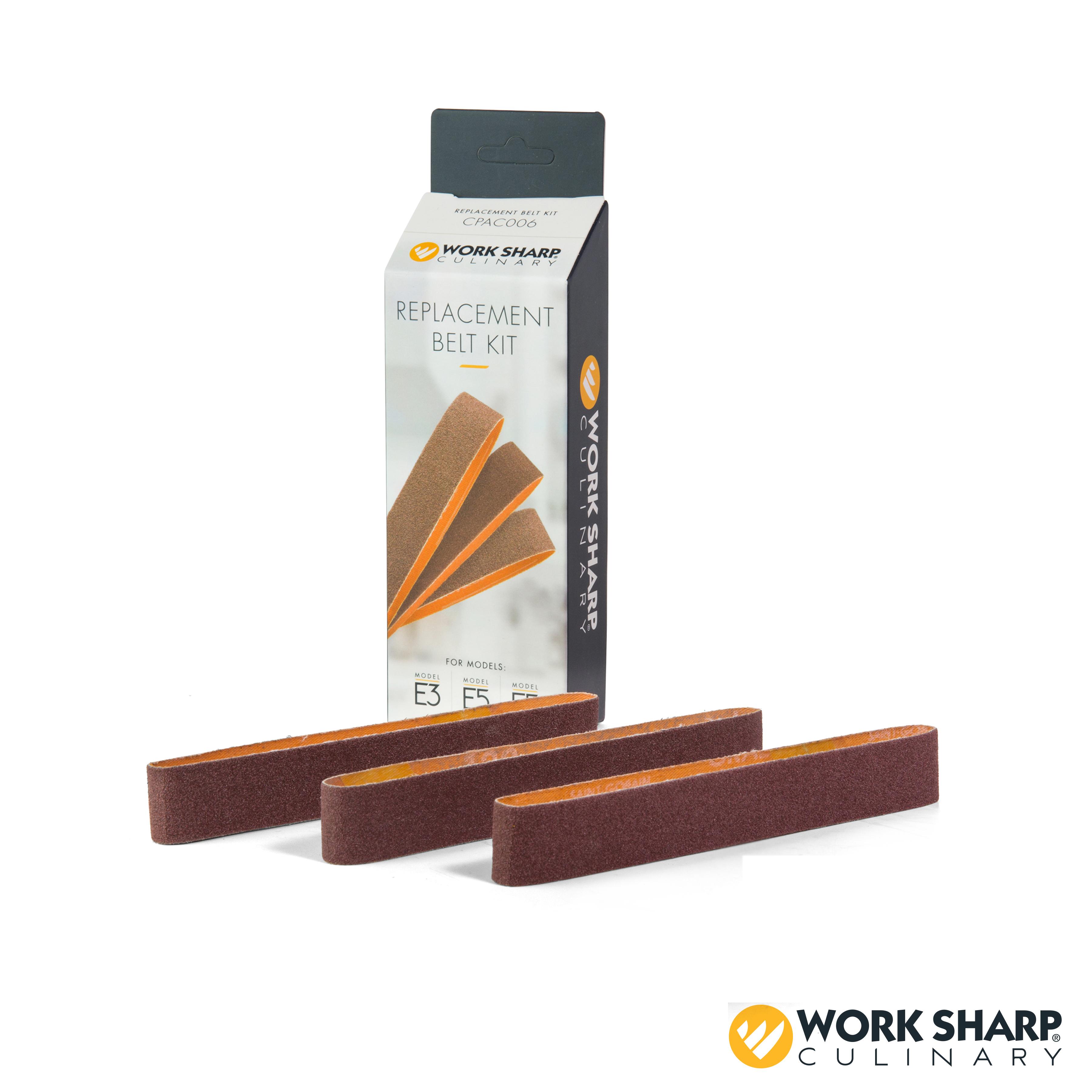 Work Sharp Culinary E5 Electric Kitchen Knife Sharpener Replacement Belt Kit