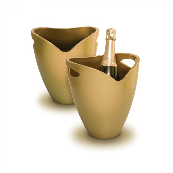 pulltex gold coloured wine bucket