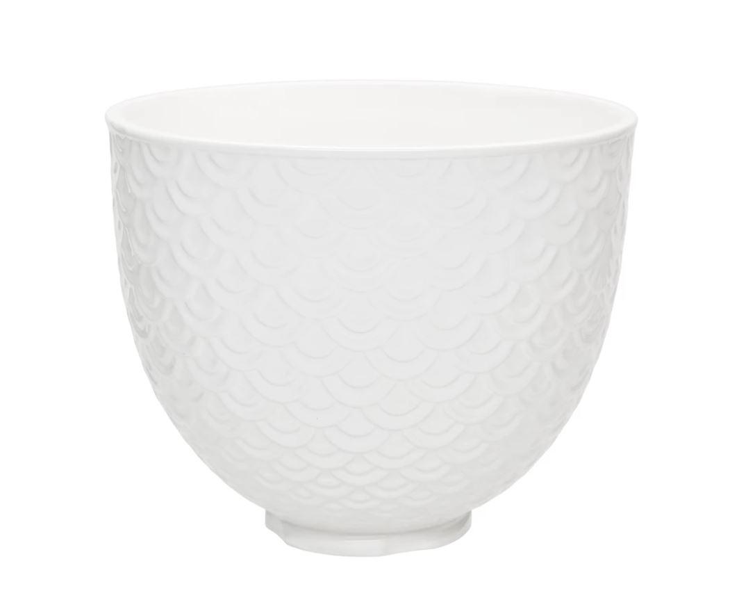 kitchenaid white ceramic bowl mermaid pattern