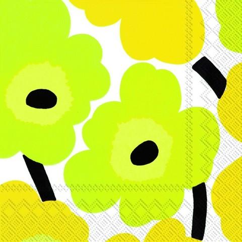 C552670 IHR Cocktail Napkin Marimekko Unikko Yellow