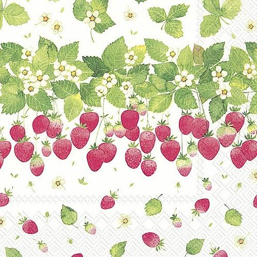 C768000 IHR Cocktail Napkin Strawberry Season