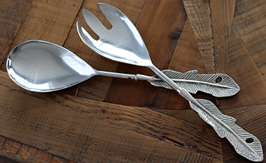 Feather Salad Servers